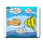 Stupid Fish Jokes Mousepad