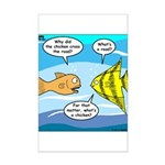 Stupid Fish Jokes Mini Poster Print