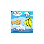 Stupid Fish Jokes 35x21 Wall Decal