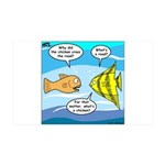 Stupid Fish Jokes 35x21 Wall Decal