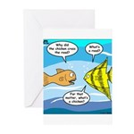 Stupid Fish Jokes Greeting Cards (Pk of 10)