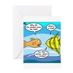 Stupid Fish Jokes Greeting Card