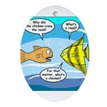 Stupid Fish Jokes Ornament (Oval)