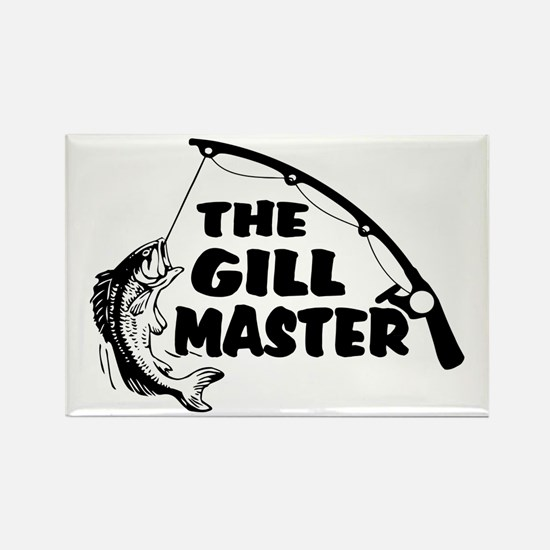Fisherman As The Gill Master Rectangle Magnet