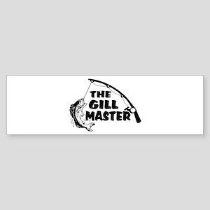 Fisherman As The Gill Master Sticker (Bumper)