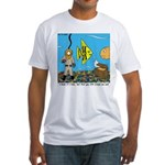 Fish Tank Diver Fitted T-Shirt