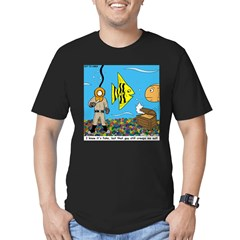 Fish Tank Diver Men's Fitted T-Shirt (dark)