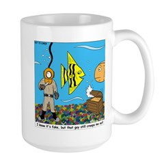 Fish Tank Diver Large Mug
