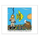 Fish Tank Diver Small Poster
