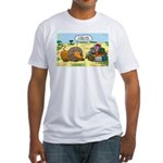 Lion Fathers Day Fitted T-Shirt