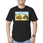 Lion Fathers Day Men's Fitted T-Shirt (dark)