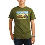 Lion Fathers Day Organic Men's T-Shirt (dark)