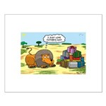 Lion Fathers Day Small Poster