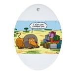 Lion Fathers Day Ornament (Oval)
