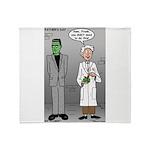 Frankenstein Fathers Day Throw Blanket