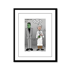 Frankenstein Fathers Day Framed Panel Print