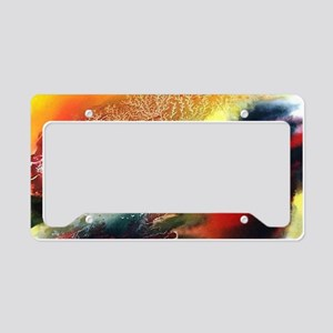 Abstract Oriental Art License Plate Holder