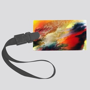 Abstract Oriental Art Large Luggage Tag