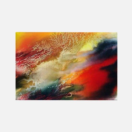 Abstract Oriental Art Rectangle Magnet