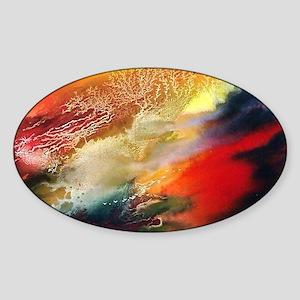 Abstract Oriental Art Sticker (Oval)