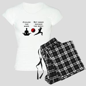Civilize Mind Savage Body Pajamas