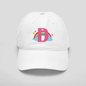 Letter D Rainbow Monogrammed Cap