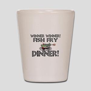 Winner Winner Fish Fry Dinner Shot Glass