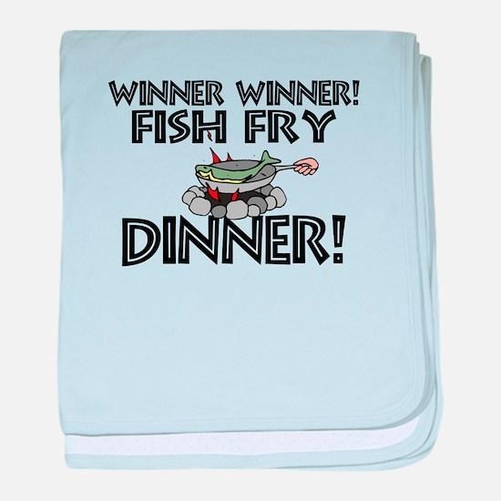 Winner Winner Fish Fry Dinner baby blanket