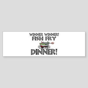 Winner Winner Fish Fry Dinner Sticker (Bumper)