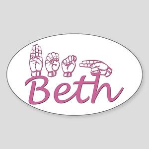 Beth Oval Sticker