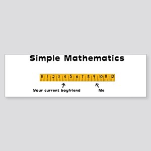 Simple Mathematics: Your Curr Bumper Sticker