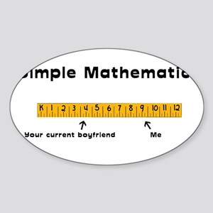 Simple Mathematics: Your Curr Oval Sticker