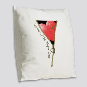 zipclubnew-2 Burlap Throw Pillow