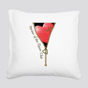 zipclubnew-2 Square Canvas Pillow