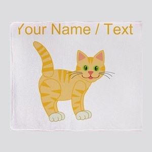 Custom Orange Cat Throw Blanket