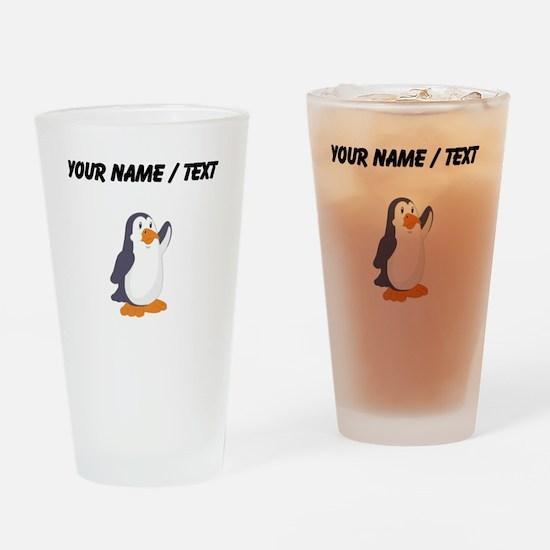 Custom Cartoon Penguin Drinking Glass