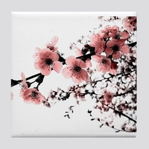 Cherry Blossoms Tile Coaster