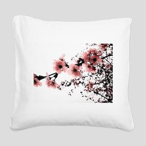 Cherry Blossoms Square Canvas Pillow