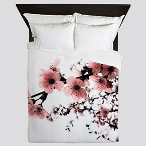 Cherry Blossoms Queen Duvet
