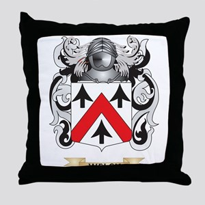 Welch Family Crest (Coat of Arms) Throw Pillow
