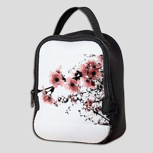 Cherry Blossoms Neoprene Lunch Bag