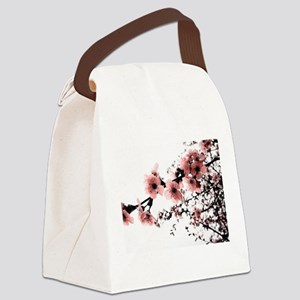 Cherry Blossoms Canvas Lunch Bag