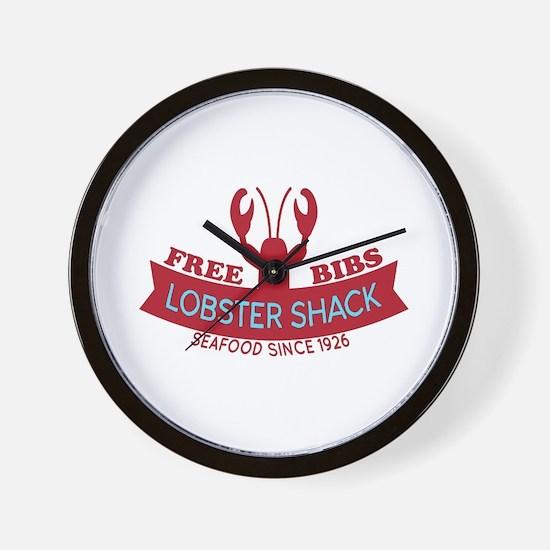 Lobster Shack Fresh Seafood Logo Wall Clock