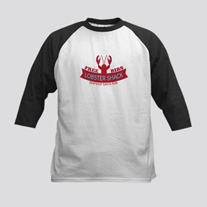 Lobster Shack Fresh Seafood Logo Kids Baseball Jer