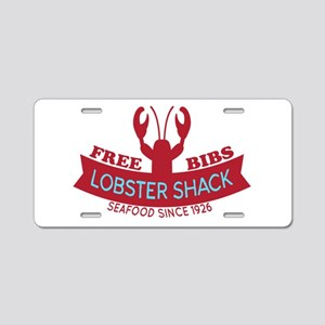 Lobster Shack Fresh Seafood Logo Aluminum License