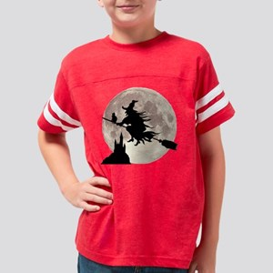 Flying Witch Moon Youth Football Shirt