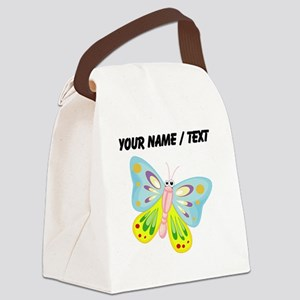 Custom Cartoon Butterfly Canvas Lunch Bag