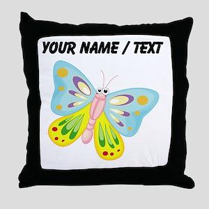 Custom Cartoon Butterfly Throw Pillow