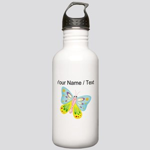 Custom Cartoon Butterfly Sports Water Bottle