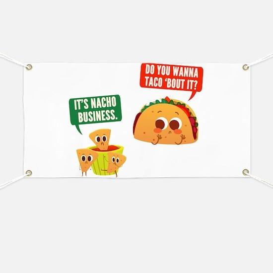 Nacho Business Pun Banner
